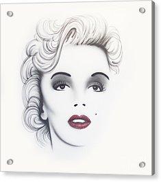 Marilyn Monroe Acrylic Print by Devaron Jeffery