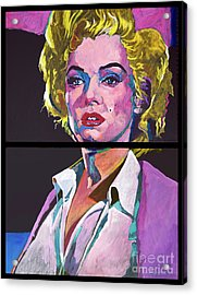 Marilyn Monroe Dyptich Acrylic Print by David Lloyd Glover