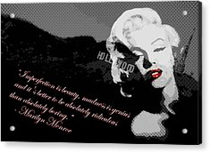 Marilyn Monroe Imperfection Is Beauty Acrylic Print