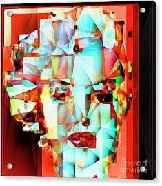 Acrylic Print featuring the photograph Marilyn Monroe In Abstract Cubism 20170326 by Wingsdomain Art and Photography