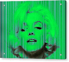Marilyn Monroe In Green Acrylic Print
