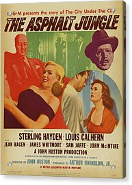 Marilyn Monroe In The Asphalt Jungle Movie Poster Acrylic Print