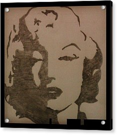 Marilyn Monroe Acrylic Print by Kiran Kumar