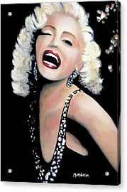 Marilyn Monroe Acrylic Print by Marti Green
