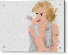 Marilyn Monroe Acrylic Print by Miranda Sether