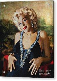 Marilyn Monroe  Mona Lisa  Acrylic Print