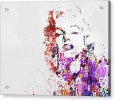 Marilyn Monroe Acrylic Print by Naxart Studio