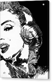 Marilyn Monroe Painting - Bombshell Black And White - By Sharon Cummings Acrylic Print by Sharon Cummings