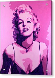 Marilyn Monroe - Pink Acrylic Print