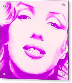Marilyn Monroe, Purple And Pink Acrylic Print