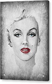 Marilyn Movie Star Edit Acrylic Print by Andrew Read