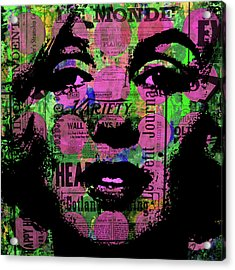 Marilyn Polk Dot Bubble Wrap Pop Art Painting Abstract Robert R Acrylic Print by Robert R Splashy Art Abstract Paintings