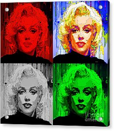 Marilyn Monroe - Quad. Pop Art Acrylic Print