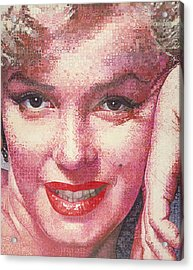 Marilyn Acrylic Print by Randy Ford