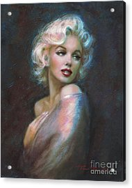 Marilyn Romantic Ww Dark Blue Acrylic Print