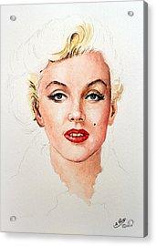 Marilyn Seductive Edit Acrylic Print by Andrew Read