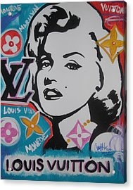 Marilyn Vuitton Acrylic Print