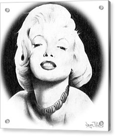 Acrylic Print featuring the drawing Marilyn by Wayne Pascall