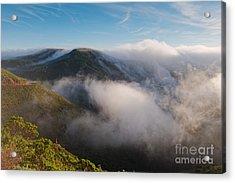 Marin Headlands Fog Rising - Sausalito Marin County California Acrylic Print by Silvio Ligutti