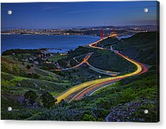 Marin Headlands Acrylic Print by Rick Berk
