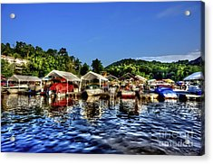Marina At Cheat Lake Clear Day Acrylic Print