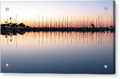 Marina At Dawn Acrylic Print by Farol Tomson