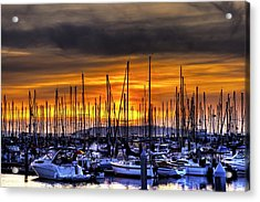 Marina At Sunset Acrylic Print
