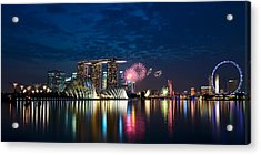Marina Bay In Panorama Acrylic Print