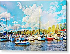 Marina In The Summertime Acrylic Print