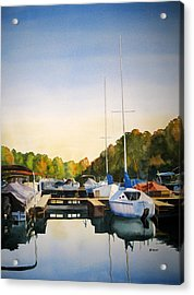 Marina Morning Acrylic Print