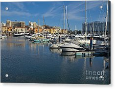 Marina Of Vilamoura At Afternoon Acrylic Print