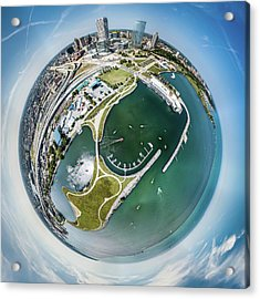 Acrylic Print featuring the photograph Marina by Randy Scherkenbach