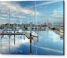 Acrylic Print featuring the photograph Marina Sunrise by Farol Tomson