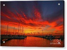 Acrylic Print featuring the photograph Marina Sunrise - Ft. Pierce by Tom Claud
