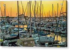Marina Sunset Acrylic Print by April Reppucci