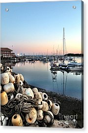 Marina Sunset Acrylic Print by Extrospection Art