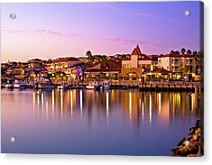 Acrylic Print featuring the photograph Marina Sunset, Mindarie by Dave Catley