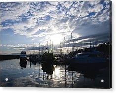 Marina Sunset Acrylic Print by Tom Dowd