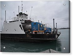 Marine City Mich Car Truck Ferry Acrylic Print