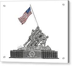 Marine Corps War Memorial - Iwo Jima Acrylic Print