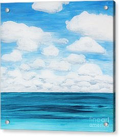 Marine Layer Breaking Up Acrylic Print