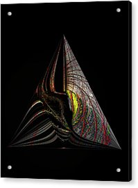 Acrylic Print featuring the digital art Marine Life Abstract 3 by Irma BACKELANT GALLERIES