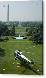 Marine One Lifts Off From The South Acrylic Print by Everett