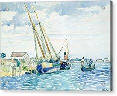 Marine Scene  Acrylic Print by Henri-Edmond Cross