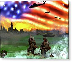 Marines Acrylic Print by Josh Burns