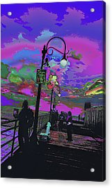 Marine's Silhouette 2 Acrylic Print by Kenneth James