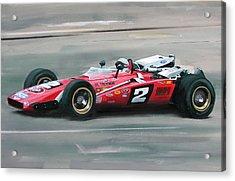 Mario Andretti Indy 500 Winner Acrylic Print