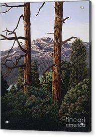 Marion Mountain At Sun Set Acrylic Print
