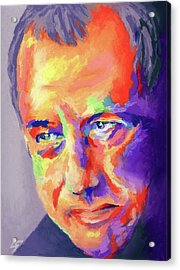 Acrylic Print featuring the painting Mark Knopfler by Stephen Anderson
