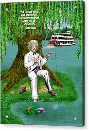 Mark Twain On The Mississippi Acrylic Print